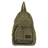 Рюкзак женский HYD 20х31х13 хаки, материал брезент