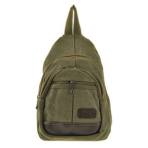 Рюкзак одна-две лямки HYD 20х31х12 хаки, материал брезент   кс8133х, фото 2