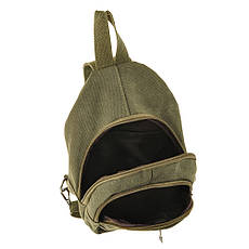 Рюкзак женский HYD 20х31х13 хаки, материал брезент, фото 3