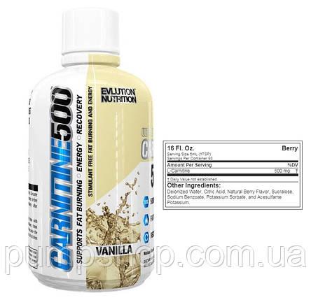 Л-карнітин Evlution Nutrition Carnitine 500 465 мл ( 93 порц.), фото 2