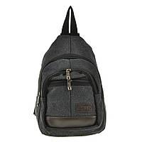 Рюкзак женский HYD 20х31х13 черный, материал брезент