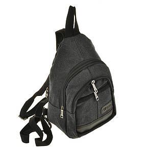 Рюкзак  HYD 20х31х13 одна лямка, материал брезент, цвет черный   кс8133ч, фото 2