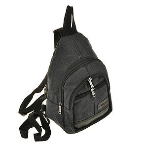 Рюкзак женский HYD 20х31х13 черный, материал брезент, фото 2