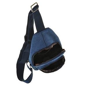 Рюкзак женский HYD 18х32х8 синий, материал брезент, фото 2