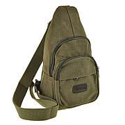 Рюкзак женский HYD 18х32х8 хаки, материал брезент
