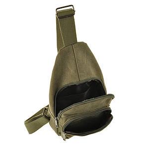 Рюкзак женский HYD 18х32х8 хаки, материал брезент, фото 2