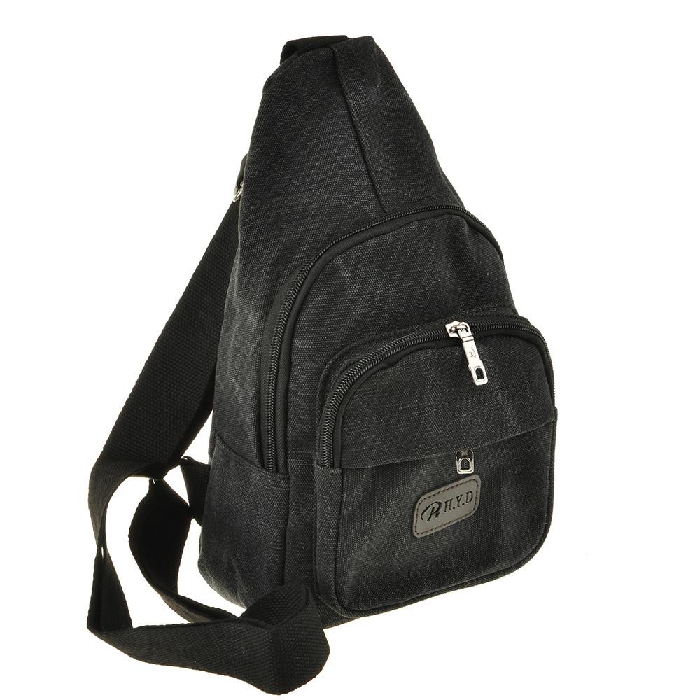Рюкзак женский HYD 18х32х8 черный, материал брезент