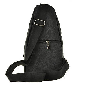 Рюкзак женский HYD 18х32х8 черный, материал брезент, фото 2