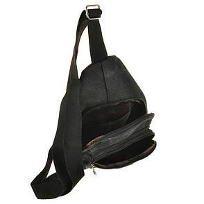 Рюкзак жіночий HYD 18х32х8 чорний, матеріал брезент, фото 2