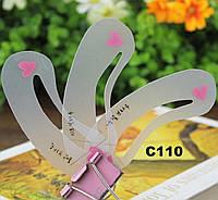 C110 Набор трафаретов для бровей, силикон (3 формы)