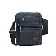 Мужская сумка HONGYUNDA вертикальная, 18х23х9 материал брезент ксФ1518ч