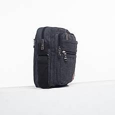 Мужская сумка HONGYUNDA вертикальная, 18х23х9 материал брезент ксФ1518ч, фото 2