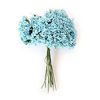 Декоративная травка голубая, букетик из 12 соцветий