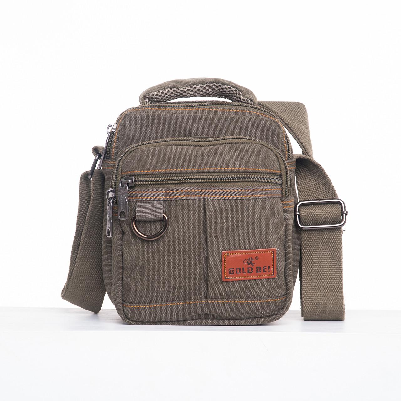 Мужская сумка вертикальная GOLD BE 18х21х14 ткань брезент ксС333х