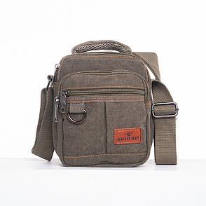 Мужская сумка вертикальная GOLD BE 18х21х14 ткань брезент ксС333х, фото 2