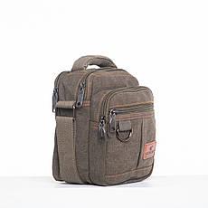 Мужская сумка вертикальная GOLD BE 17х20х12 ткань брезент ксС333х, фото 2
