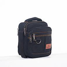 Мужская сумка GOLD BE вертикальная, 17х20х12 брезент ксС333ч, фото 2