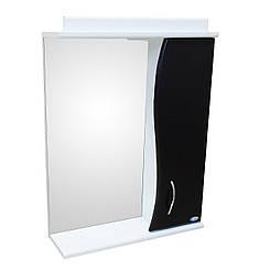 Зеркало АкваСан с подсветкой 50 см Черное