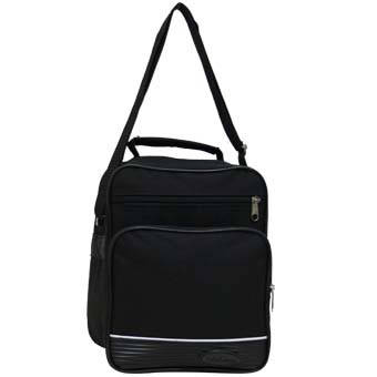 Мужская сумка вертикальная Wallaby 21х25х14 чёрная в 2660, фото 2