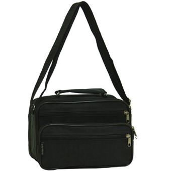 Мужская сумка горизонтальная Wallaby 24х16х14 чёрная ткань «Кордура»  в 2123ч