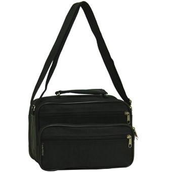 Мужская сумка горизонтальная Wallaby 24х16х14 чёрная ткань «Кордура»  в 2123ч, фото 2