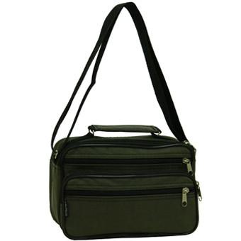 Мужская сумка Wallaby горизонтальная 24х16х14 хаки, ткань «Кордура»  в2123х