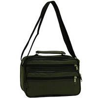 97ec62a93c60 Мужская сумка Wallaby горизонтальная 24х16х14 хаки, ткань «Кордура» в2123х
