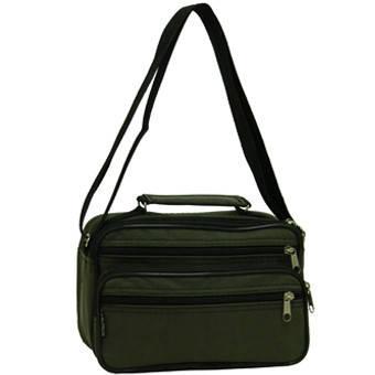 Мужская сумка Wallaby горизонтальная 24х16х14 хаки, ткань «Кордура»  в2123х, фото 2
