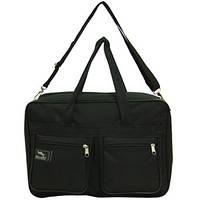 Мужская сумка Wallaby 1 отделения 2 кармана чёрная 38х26х13 материал тканевой на ПВХ основе в 2630