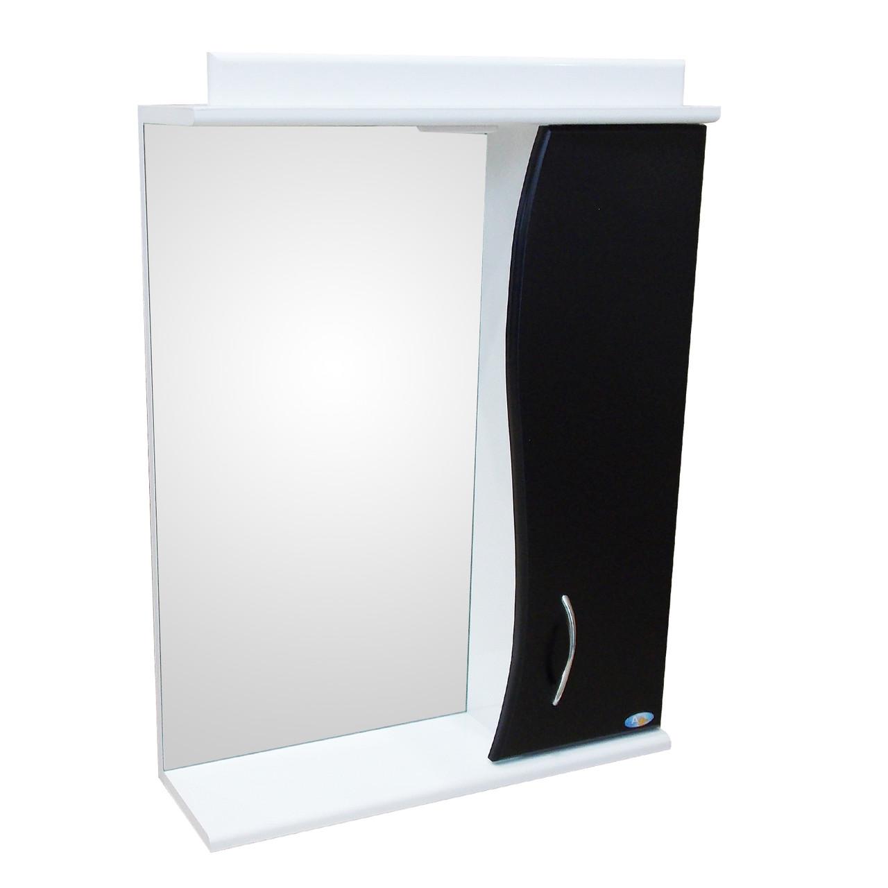 Зеркало АкваСан с подсветкой 70 см Черное