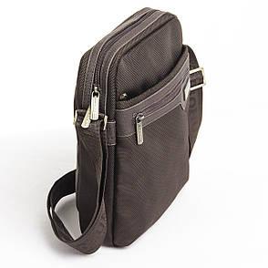 Чоловіча сумка BAOHUA 21х26х8 вертикальна, тканина Карбон ксВН8159-до 8,75, фото 2
