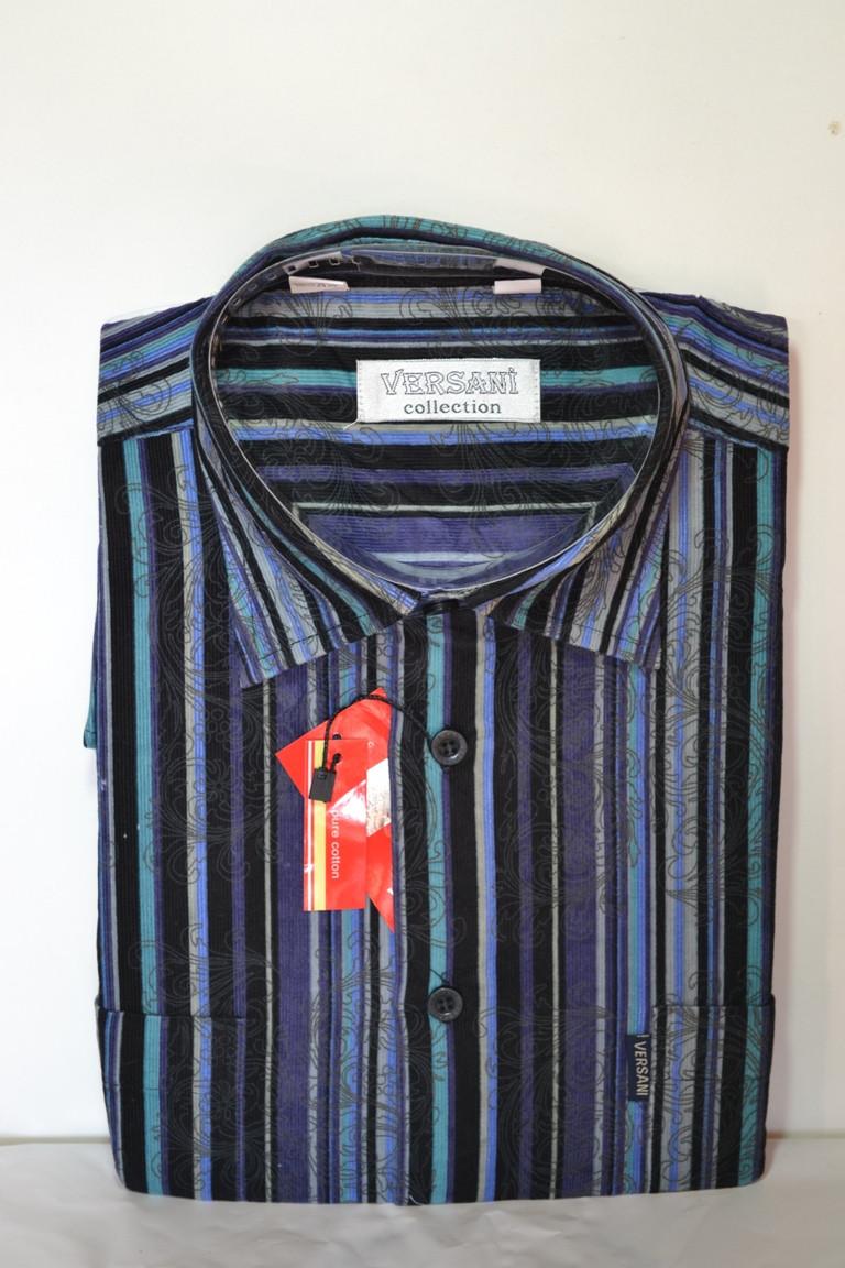 Вельветовая мужская рубашка (размер 41)