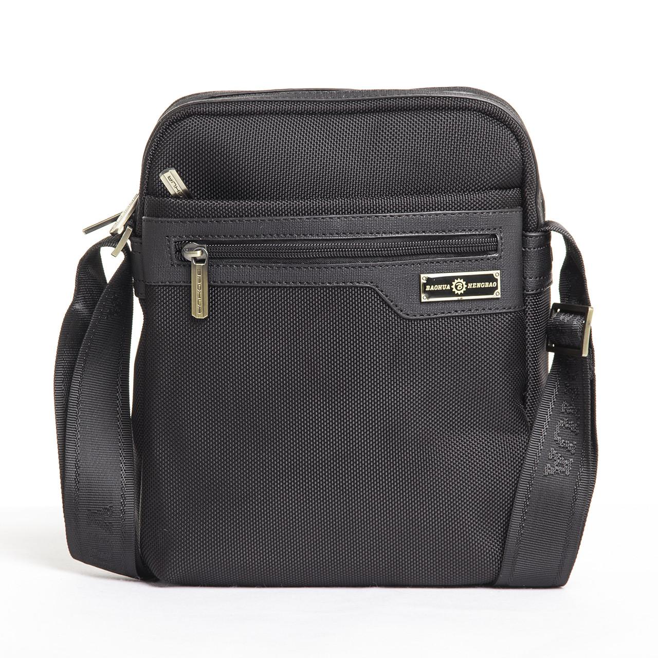 Мужская сумка BAOHUA вертикальная, 21х26х8  ткань Оксфорд ксВН8159-8,75ч