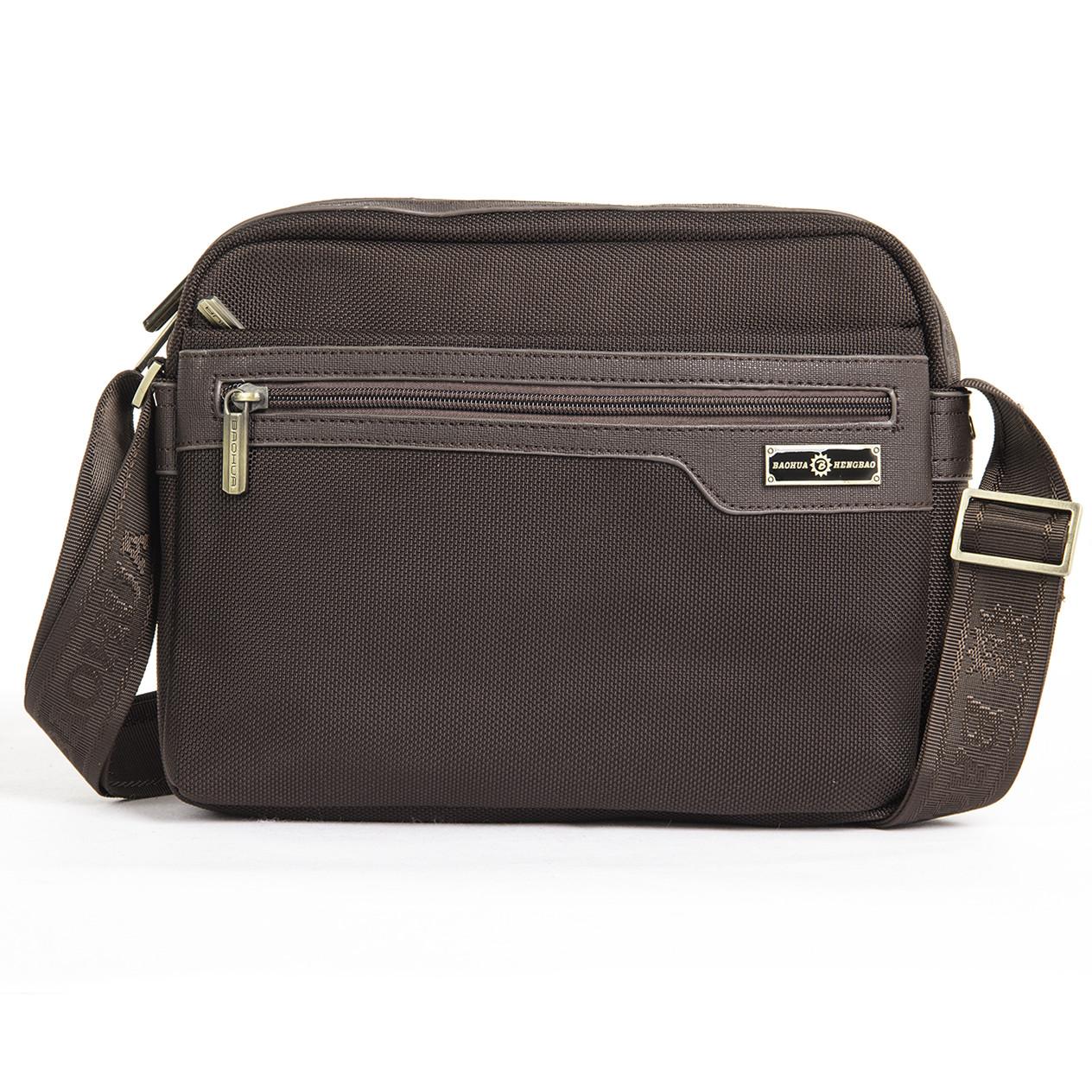 Мужская сумка горизонтальная BAOHUA 28х21х8 ткань Оксфорд ксВН8159-11,5к