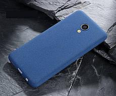 Чехол Бампер MAKAVO для Meizu M5C Матовый ультратонкий Blue