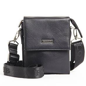 Мужская сумка POLO CLUB чёрный спилак 14х17х8 клапан ручка  кс023-1ч, фото 2
