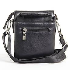 Мужская сумка POLO CLUB чёрный спилак 14х17х8 клапан ручка  кс023-1ч, фото 3