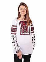 Жіноча вишиванка з червоним орнаментом з машинною вишивкою недорого 7150eeb72bfab