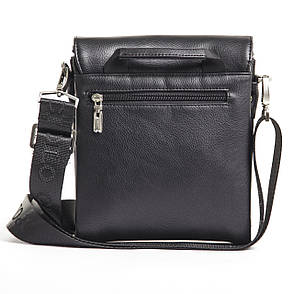 Мужская сумка POLO CLUB чёрный спилак 18х20х9 клапан ручка  кс023-2ч, фото 2