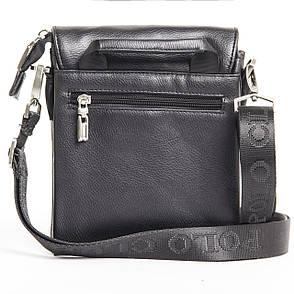 Мужская сумка POLO CLUB чёрный спилак 20х24х10 клапан ручка кс023-3ч, фото 2