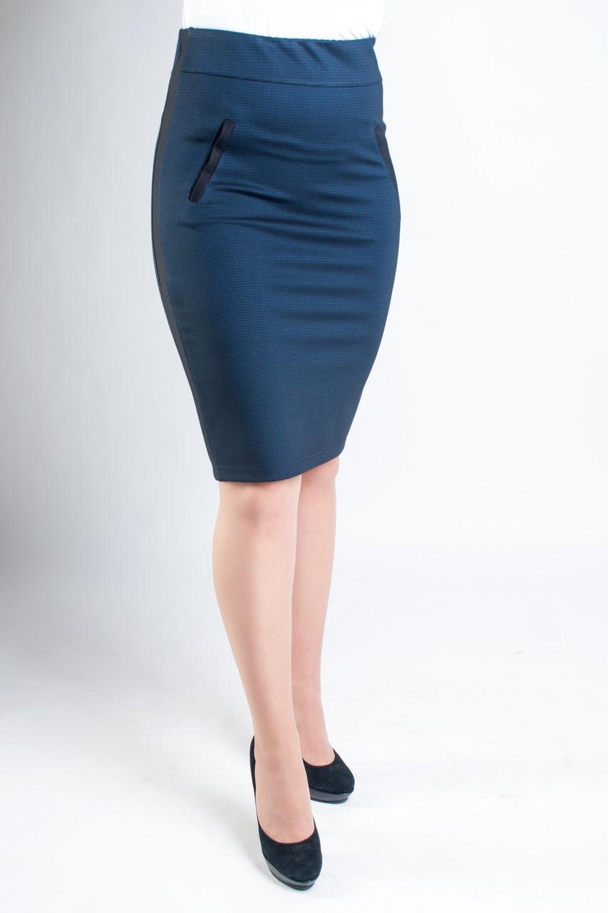 Женская юбка Слава синяя
