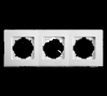 Потрійна горизонтальна рамка VIKO Linnera Біла, фото 2