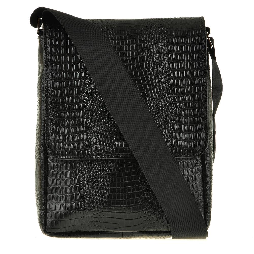 Мужская сумка BagHouse кожаная 20х25х7 вертикальная  хк52крок ч