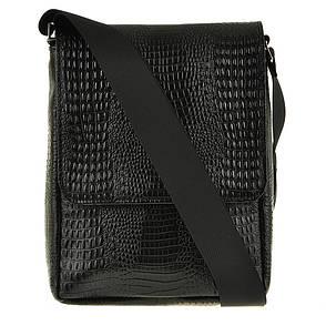Мужская сумка BagHouse кожаная 20х25х7 вертикальная  хк52крок ч, фото 2