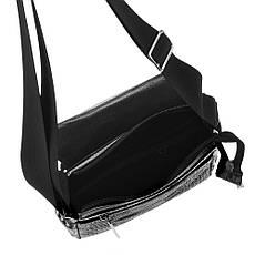 Мужская сумка BagHouse кожаная 20х25х7 вертикальная  хк52крок ч, фото 3