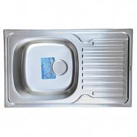Врезная кухонная мойка Germes 78*50*19 Satin 0.8