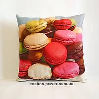 Подарочная декоративная подушка Макарунс