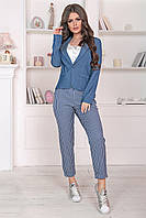 Костюм брючный Фия в цвете джинс, фото 1