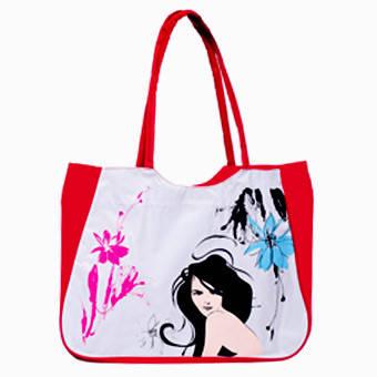 Пляжная женская сумка BagHouse 45х36х13 ткань на ПВХ основе к 211703дев кр, фото 2