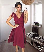 Платье миди Софияс бантами